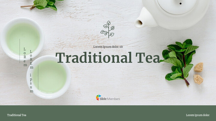 Traditional Tea Google Slides Template Design_01