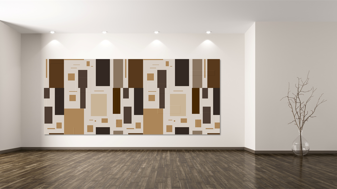 Wood Artwall Mockup Ppt Templates
