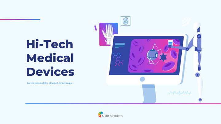 Hi-Tech Medical Devices PPT Background PowerPoint_01