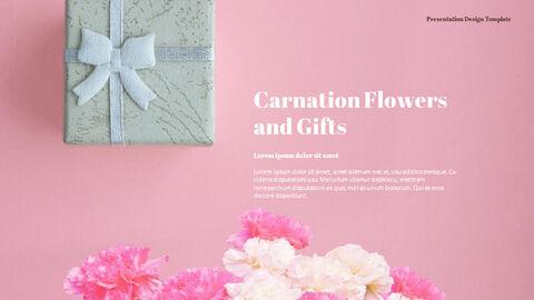 카네이션 꽃과 선물 피피티 템플릿 디자인_04