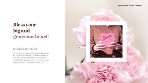 Carnation Flower and Gift PPT Templates Design_04