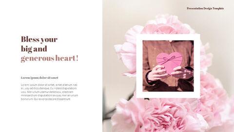 카네이션 꽃과 선물 피피티 템플릿 디자인_06
