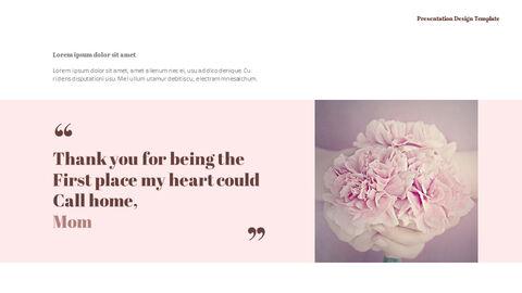 카네이션 꽃과 선물 피피티 템플릿 디자인_08