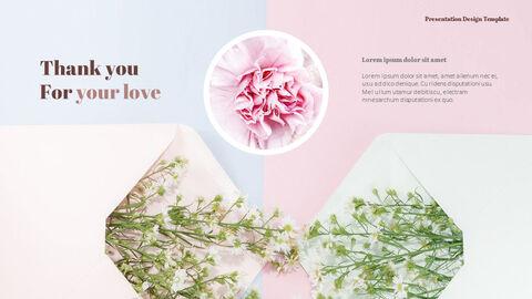 카네이션 꽃과 선물 피피티 템플릿 디자인_09