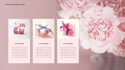 Carnation Flower and Gift PPT Templates Design_05