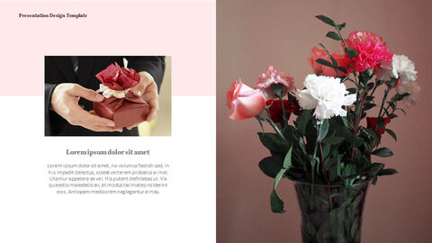 카네이션 꽃과 선물 피피티 템플릿 디자인_17