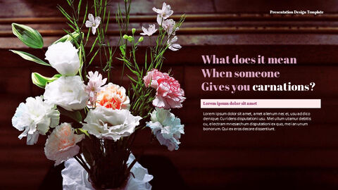 카네이션 꽃과 선물 피피티 템플릿 디자인_22