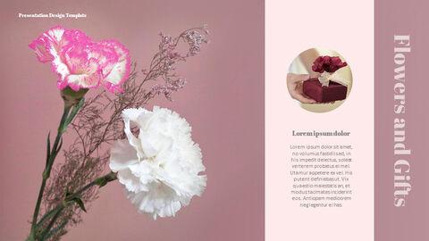 카네이션 꽃과 선물 피피티 템플릿 디자인_24