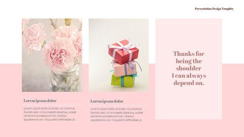 카네이션 꽃과 선물 피피티 템플릿 디자인_25