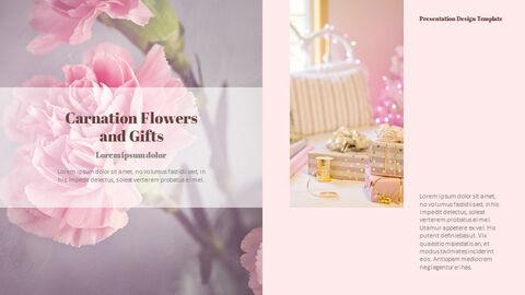 카네이션 꽃과 선물 피피티 템플릿 디자인_27