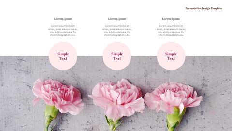 카네이션 꽃과 선물 피피티 템플릿 디자인_29