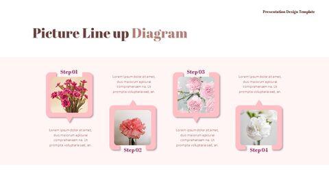 카네이션 꽃과 선물 피피티 템플릿 디자인_34