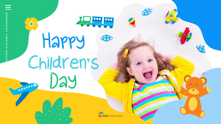 Happy Children\'s Day Simple PPT Templates_01