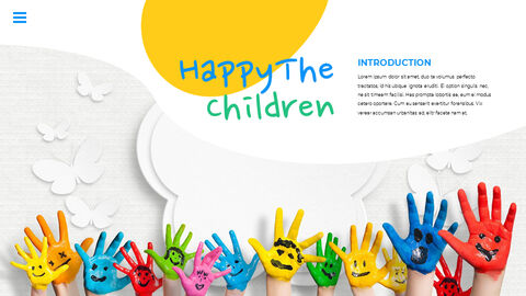 Happy Children\'s Day Simple PPT Templates_04