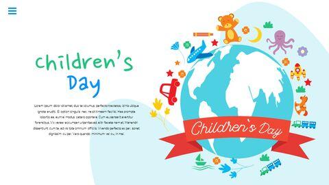 행복한 어린이날 PPT 템플릿 심플한 디자인_23