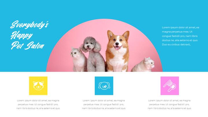 애완동물 살롱 편집이 쉬운 PPT 템플릿_02
