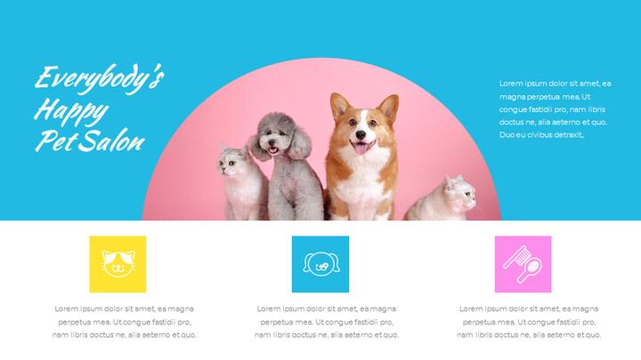 애완동물 살롱 Google 슬라이드의 파워포인트_02
