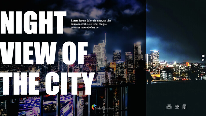 Night View of the City Theme Keynote Design_01