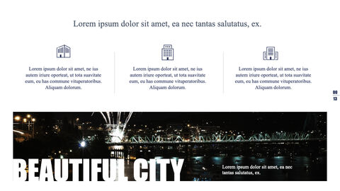 Night View of the City Theme Keynote Design_05