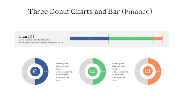 Doughnut with 100% Stacked Bar Mix Chart_01