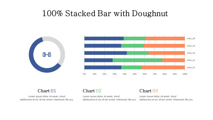 Doughnut with 100% Stacked Bar Mix Chart_02