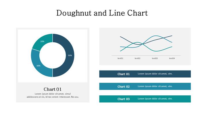 Doughnut with Line Mix Chart_02