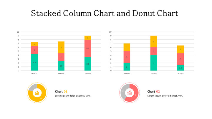 Doughnut with Stacked Column Mix Chart_01