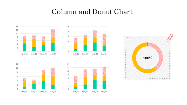 Doughnut with Stacked Column Mix Chart_02