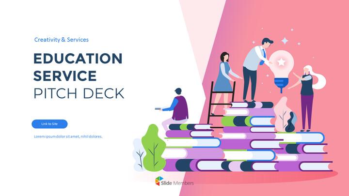 Education Service Pitch Deck Business plan PPT Templates_01