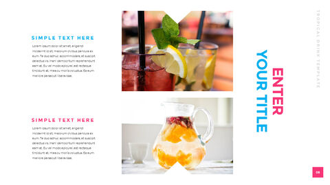 Tropical Drink Templates PPT_03
