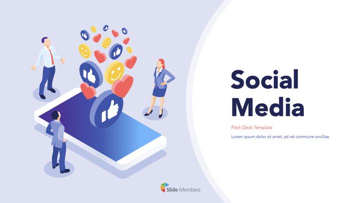 소셜 미디어 피치덱 키노트의 PPTX_01