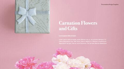 카네이션 꽃과 선물 키노트 템플릿_02