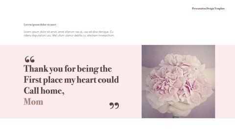 카네이션 꽃과 선물 키노트 템플릿_04