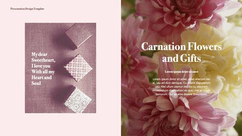 카네이션 꽃과 선물 키노트 템플릿_14