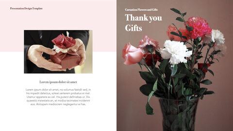 카네이션 꽃과 선물 키노트 템플릿_17