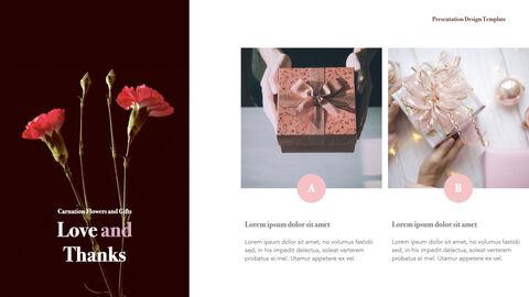 카네이션 꽃과 선물 키노트 템플릿_18