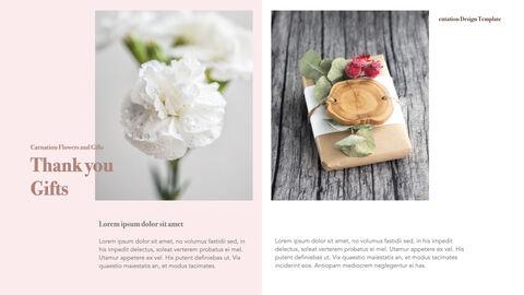 카네이션 꽃과 선물 키노트 템플릿_23