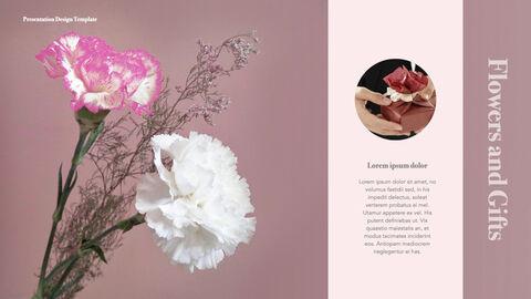 카네이션 꽃과 선물 키노트 템플릿_24