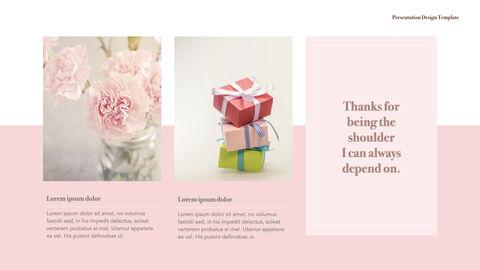 카네이션 꽃과 선물 키노트 템플릿_25