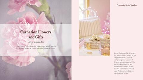 카네이션 꽃과 선물 키노트 템플릿_27