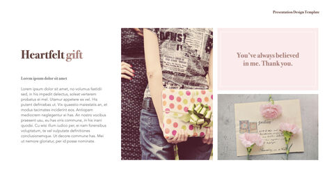 카네이션 꽃과 선물 키노트 템플릿_28