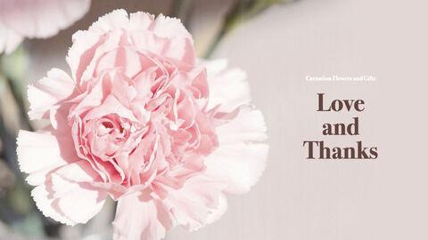 카네이션 꽃과 선물 키노트 템플릿_40