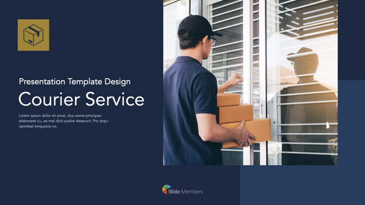 Courier Service Simple Keynote Template_01