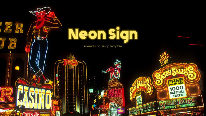 Neon Sign Simple PPT Templates_01