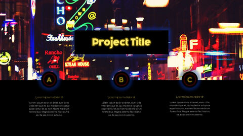 Neon Sign Simple PPT Templates_02