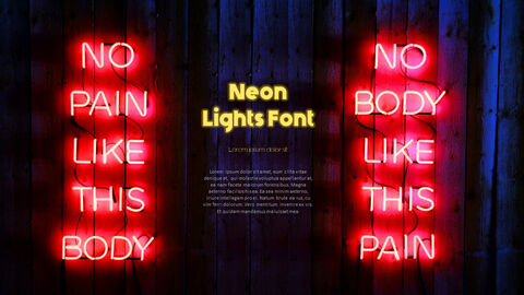 Neon Sign Simple PPT Templates_03