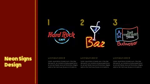Neon Sign Simple PPT Templates_04