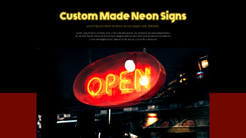Neon Sign Simple PPT Templates_05