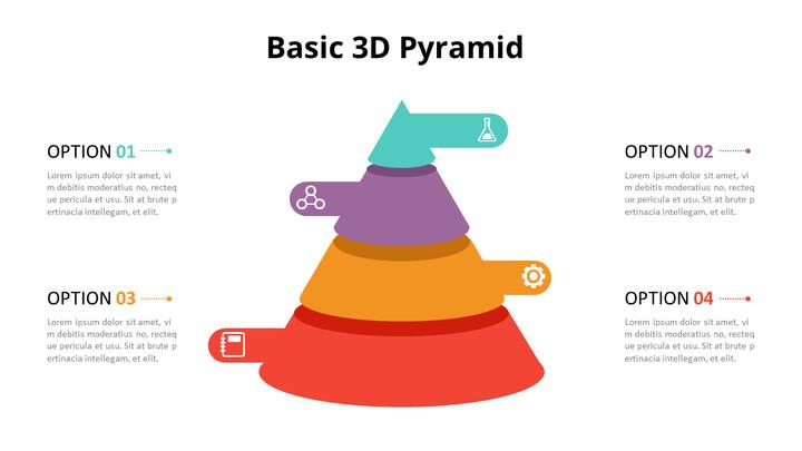 3D 콘 피라미드 차트 다이어그램_01
