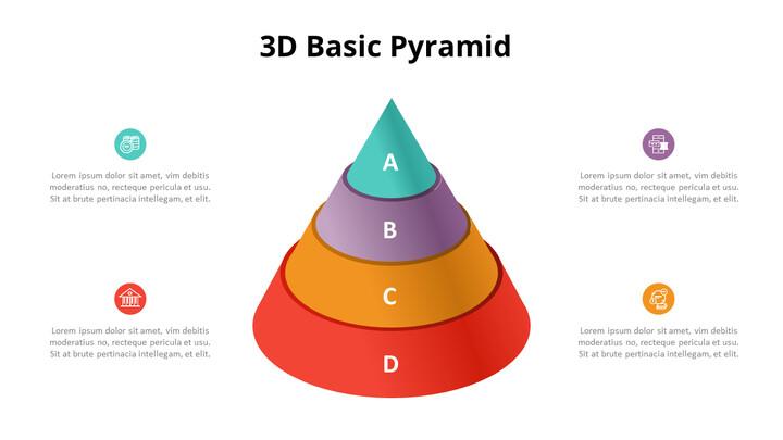 3D 콘 피라미드 차트 다이어그램_02